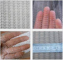 Plain Weave Stainless Steel Knitted Wire Mesh 0.5-2m Width For Demister Pad